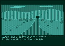 In game image of Troll's Tale on the Atari 8-bit.