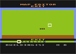 In game image of Wargame Construction Set on the Atari 8-bit.