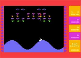 In game image of Wavy Navy on the Atari 8-bit.