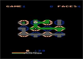 In game image of Zenji on the Atari 8-bit.