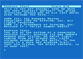 In game image of Zork III: The Dungeon Master on the Atari 8-bit.