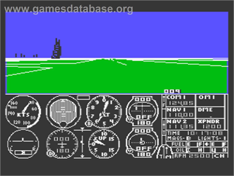 Flight Simulator 2 - Atari 8-bit - Artwork - In Game