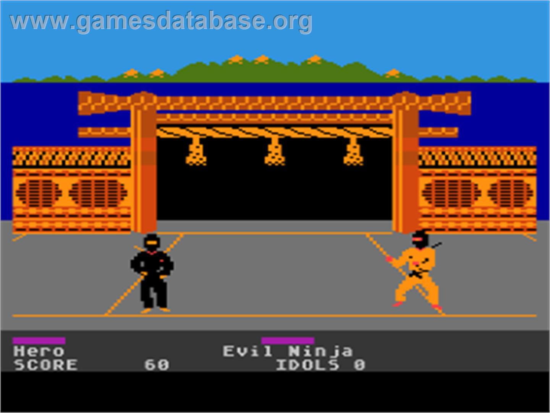 In game image of Ninja on the Atari 8-bit.