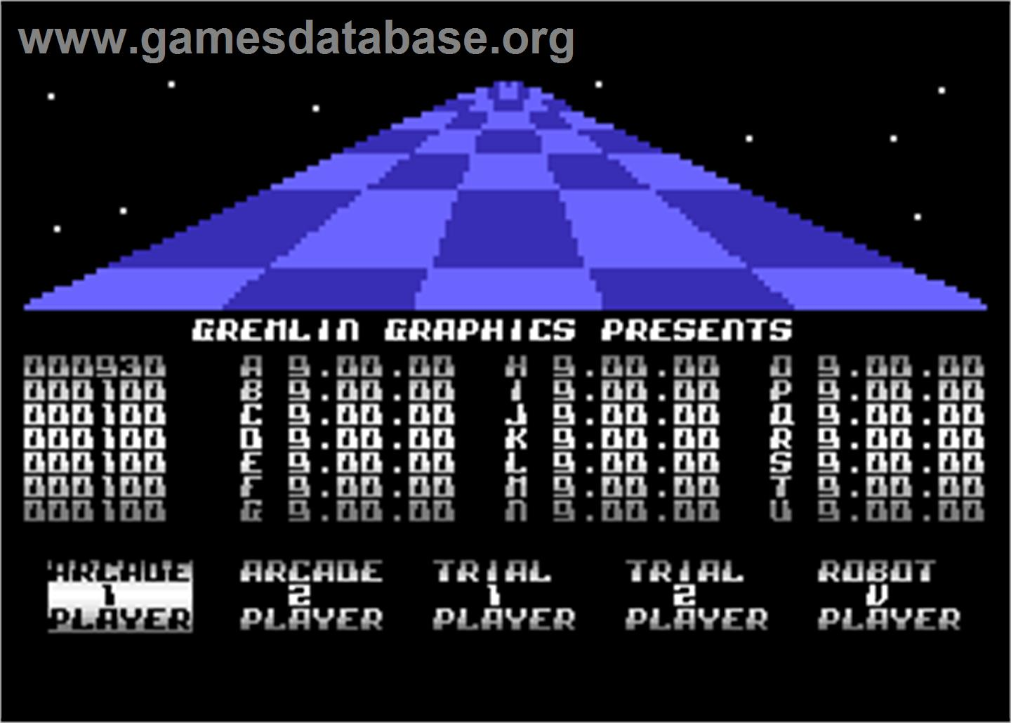 Trail Blazer - Atari 8-bit - Artwork - In Game