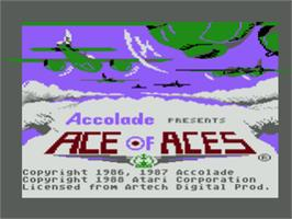 Title screen of Ace of Aces on the Atari 8-bit.