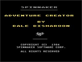 Title screen of Adventure Creator on the Atari 8-bit.