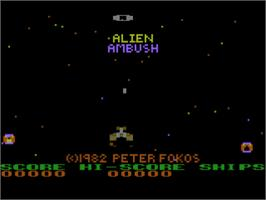 Title screen of Alien Ambush on the Atari 8-bit.