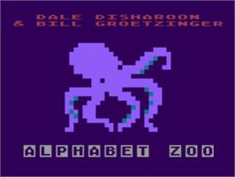 Title screen of Alphabet Zoo on the Atari 8-bit.