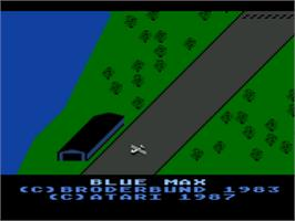 Title screen of Blue Max on the Atari 8-bit.