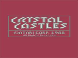 Title screen of Crystal Castles on the Atari 8-bit.