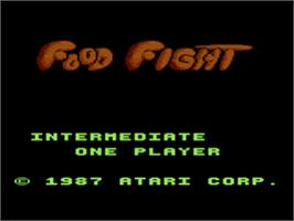 Title screen of Food Fight on the Atari 8-bit.