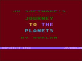 Title screen of Journey to the Planets on the Atari 8-bit.