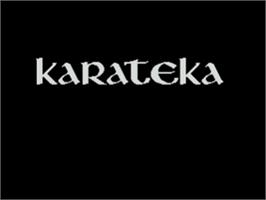 Title screen of Karateka on the Atari 8-bit.