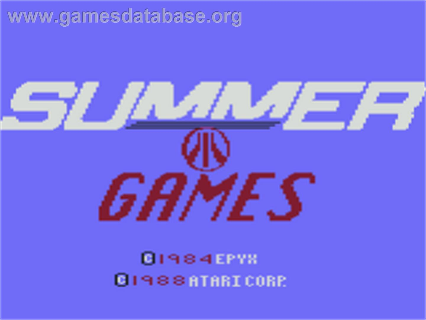 Summer Games - Atari 8-bit - Artwork - Title Screen