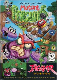 Box cover for Attack of the Mutant Penguins on the Atari Jaguar.