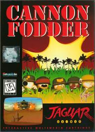 Box cover for Cannon Fodder on the Atari Jaguar.