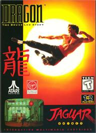 Box cover for Dragon: The Bruce Lee Story on the Atari Jaguar.