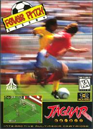 Box cover for Fever Pitch Soccer on the Atari Jaguar.