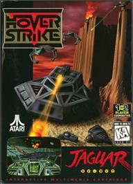 Box cover for Hover Strike on the Atari Jaguar.