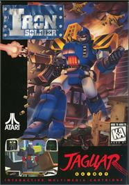 Box cover for Iron Soldier on the Atari Jaguar.