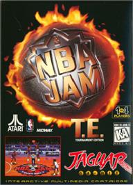Box cover for NBA Jam TE on the Atari Jaguar.