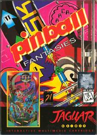 Box cover for Pinball Fantasies on the Atari Jaguar.