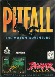 Box cover for Pitfall: The Mayan Adventure on the Atari Jaguar.