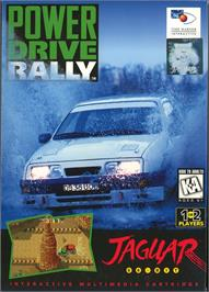 Box cover for Power Drive Rally on the Atari Jaguar.