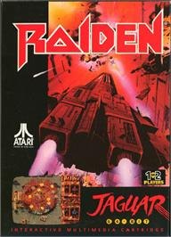 Box cover for Raiden on the Atari Jaguar.