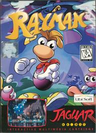 Box cover for Rayman on the Atari Jaguar.