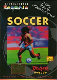 Box cover for Sensible Soccer: International Edition on the Atari Jaguar.