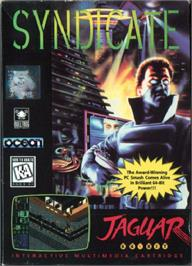 Box cover for Syndicate on the Atari Jaguar.