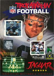 Box cover for Troy Aikman NFL Football on the Atari Jaguar.
