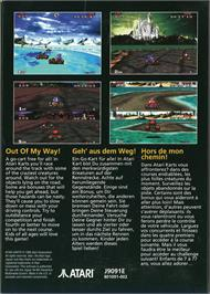 Box back cover for Atari Karts on the Atari Jaguar.