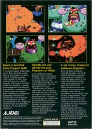 Box back cover for Attack of the Mutant Penguins on the Atari Jaguar.