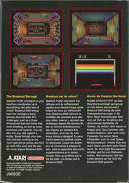Box back cover for Breakout 2000 on the Atari Jaguar.