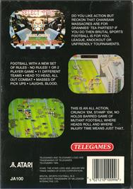 Box back cover for Brutal Sports Football on the Atari Jaguar.