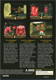 Box back cover for Doom on the Atari Jaguar.