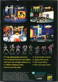 Box back cover for Double Dragon V: The Shadow Falls on the Atari Jaguar.