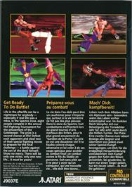 Box back cover for Fight For Life on the Atari Jaguar.