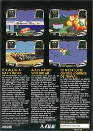 Box back cover for Iron Soldier on the Atari Jaguar.