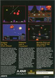 Box back cover for Missile Command 3D on the Atari Jaguar.