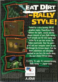 Box back cover for Power Drive Rally on the Atari Jaguar.