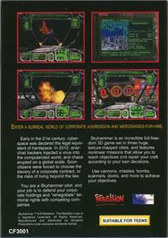 Box back cover for Skyhammer on the Atari Jaguar.