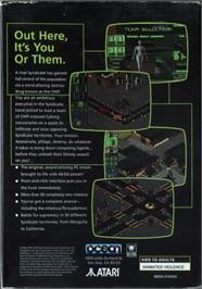 Box back cover for Syndicate on the Atari Jaguar.