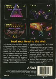 Box back cover for Tempest 2000 on the Atari Jaguar.