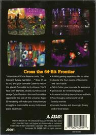 Box back cover for Trevor McFur In The Crescent Galaxy on the Atari Jaguar.