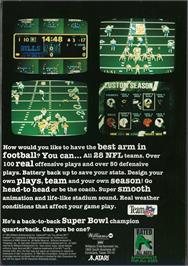 Box back cover for Troy Aikman NFL Football on the Atari Jaguar.