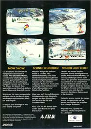 Box back cover for Val d'Isère Skiing and Snowboarding on the Atari Jaguar.
