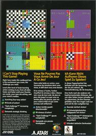 Box back cover for Zoop on the Atari Jaguar.